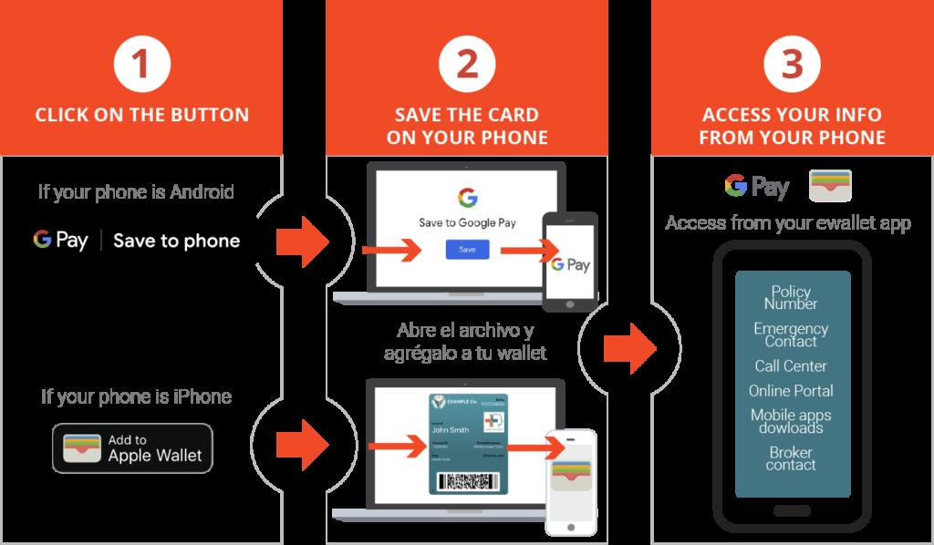 Digital Insurance card download process