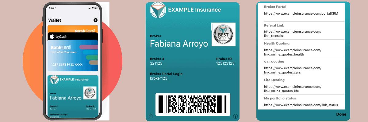eWallet broker card